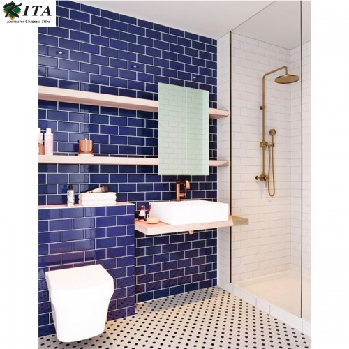 KITA KITA Subway Glossy Dark Blue 10x20 - 1