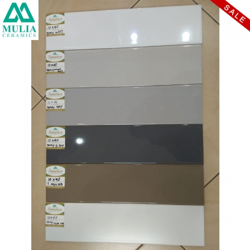 MULIA: Mulia Subway Glossy Dark Grey 10x40 KW2