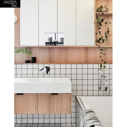 MOZZA TILE MOZZA TILE Med Square Glossy White 48x48mm (306x306mm) - 2