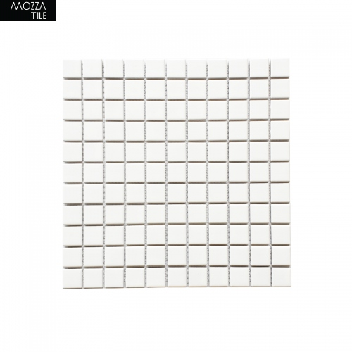 MOZZA TILE MOZZA TILE Mini Square Matte White 25x25mm (302x302mm) - 1