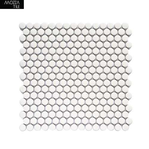 MOZZA TILE MOZZA TILE Penny Glossy White 19mm (310x315mm) - 1