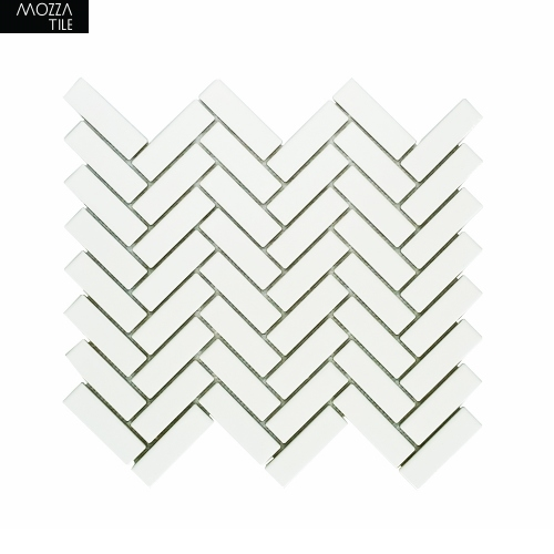 MOZZA TILE MOZZA TILE Herringbone Glossy White 21,5x71,5 - 1