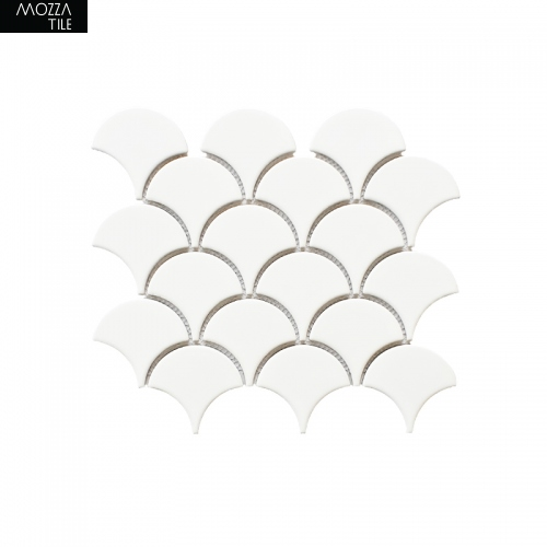 MOZZA TILE MOZZA TILE Fan Glossy White 74x70mm (255x219mm) - 1