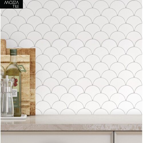 MOZZA TILE MOZZA TILE Fan Glossy White 74x70mm (255x219mm) - 2