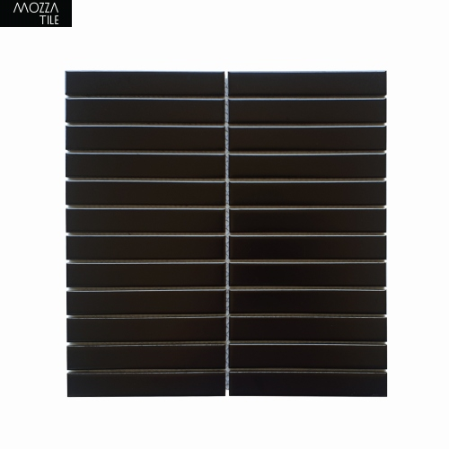 MOZZA TILE MOZZA TILE Plaza Matte Black 22x145mm (300x296mm) - 1