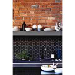 Venus Tiles Mosaic Hexagon Maxi Black (5cm)