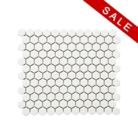 MOZZA TILE Hexa Mini Matte White 23x26mm (260x300mm)