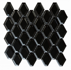 Venus Tiles Pottery Mini Diamond Black 28x27.7