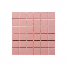 MOZZA TILE Med Square Glossy Pink 48x48mm (306x306mm)
