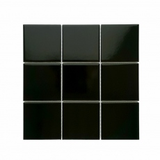 MOZZA TILE Square Glossy Black 97x97mm (300x300mm)