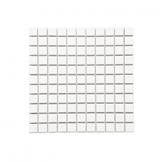 MOZZA TILE Mini Square Matte White 25x25mm (302x302mm)