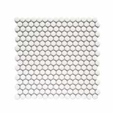 MOZZA TILE Penny Glossy White 19mm (310x315mm)