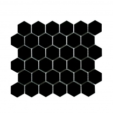 MOZZA TILE Hexa Maxi Matte Black 51x59mm (284x324mm)