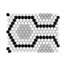 MOZZA TILE Hexa Mini Calais 23x26mm (303x400 mm)