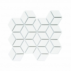 MOZZA TILE Cube Glossy White 48x83mm (267x309mm)