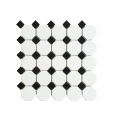 MOZZA TILE Octa Matte White 56x60mm (295x295mm)