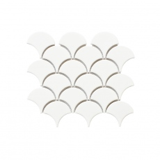 MOZZA TILE Fan Glossy White 74x70mm (255x219mm)