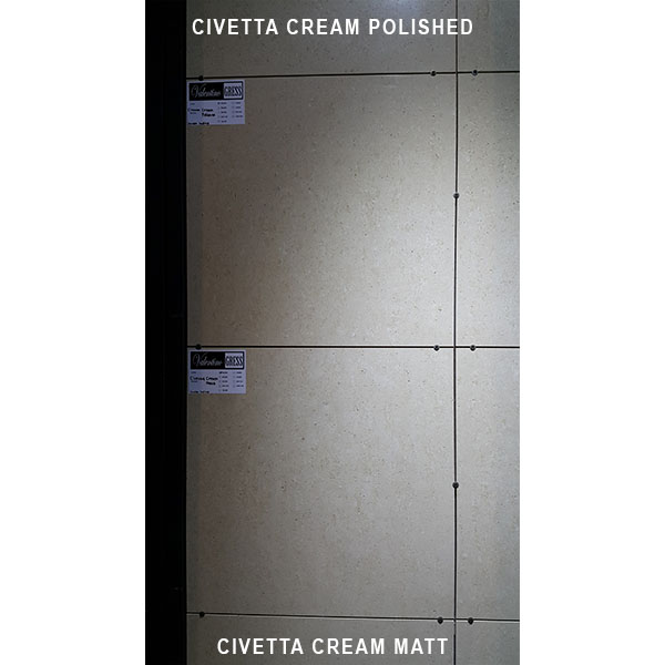 VALENTINO GRESS: Valentino Gress Civetta Cream Matt (real holes) 60x60 - small 3