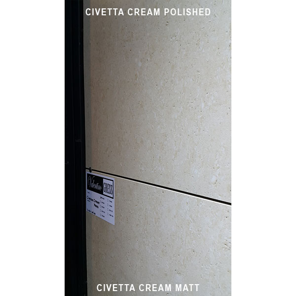 VALENTINO GRESS: Valentino Gress Civetta Cream Matt (real holes) 60x60 - small 2