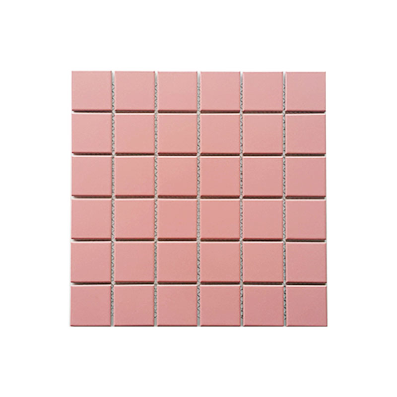 MOZZA TILE: MOZZA TILE Med Square Glossy Pink 48x48mm (306x306mm) - small 1