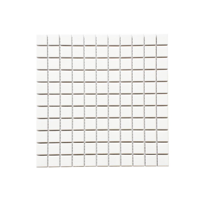 MOZZA TILE: MOZZA TILE Mini Square Matte White 25x25mm (302x302mm) - small 1