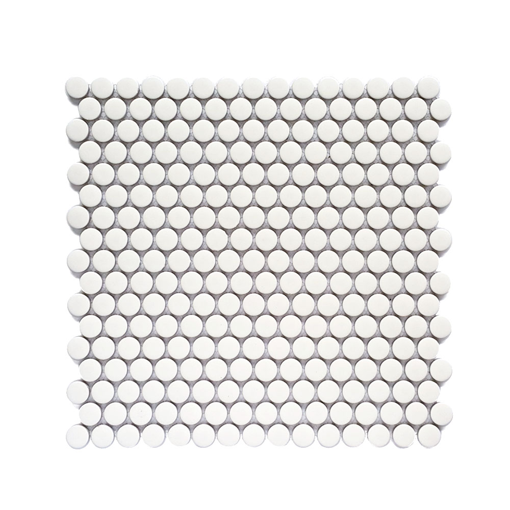 MOZZA TILE: MOZZA TILE Penny Glossy White 19mm (310x315mm) - small 1