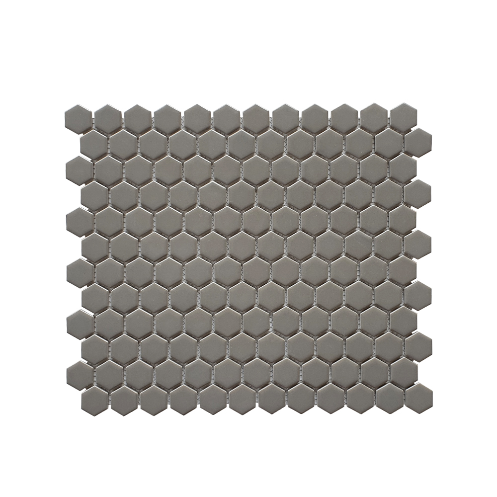MOZZA TILE: MOZZA TILE Hexa Mini Matte Warm Grey 23x26mm (60x300mm) - small 1