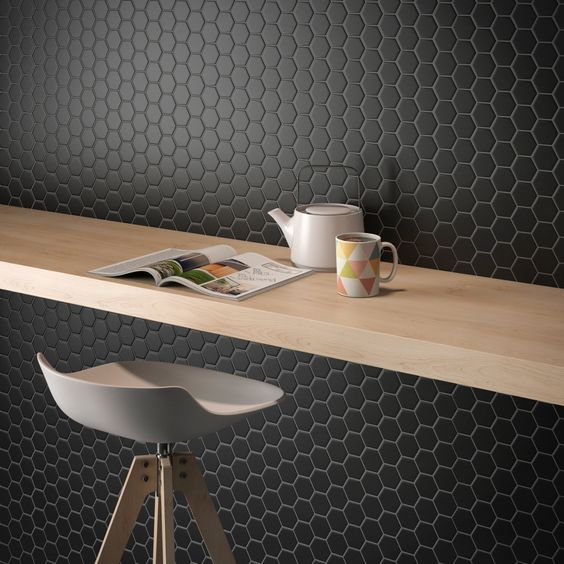 MOZZA TILE: MOZZA TILE Hexa Mini Matte Warm Grey 23x26mm (60x300mm) - small 2