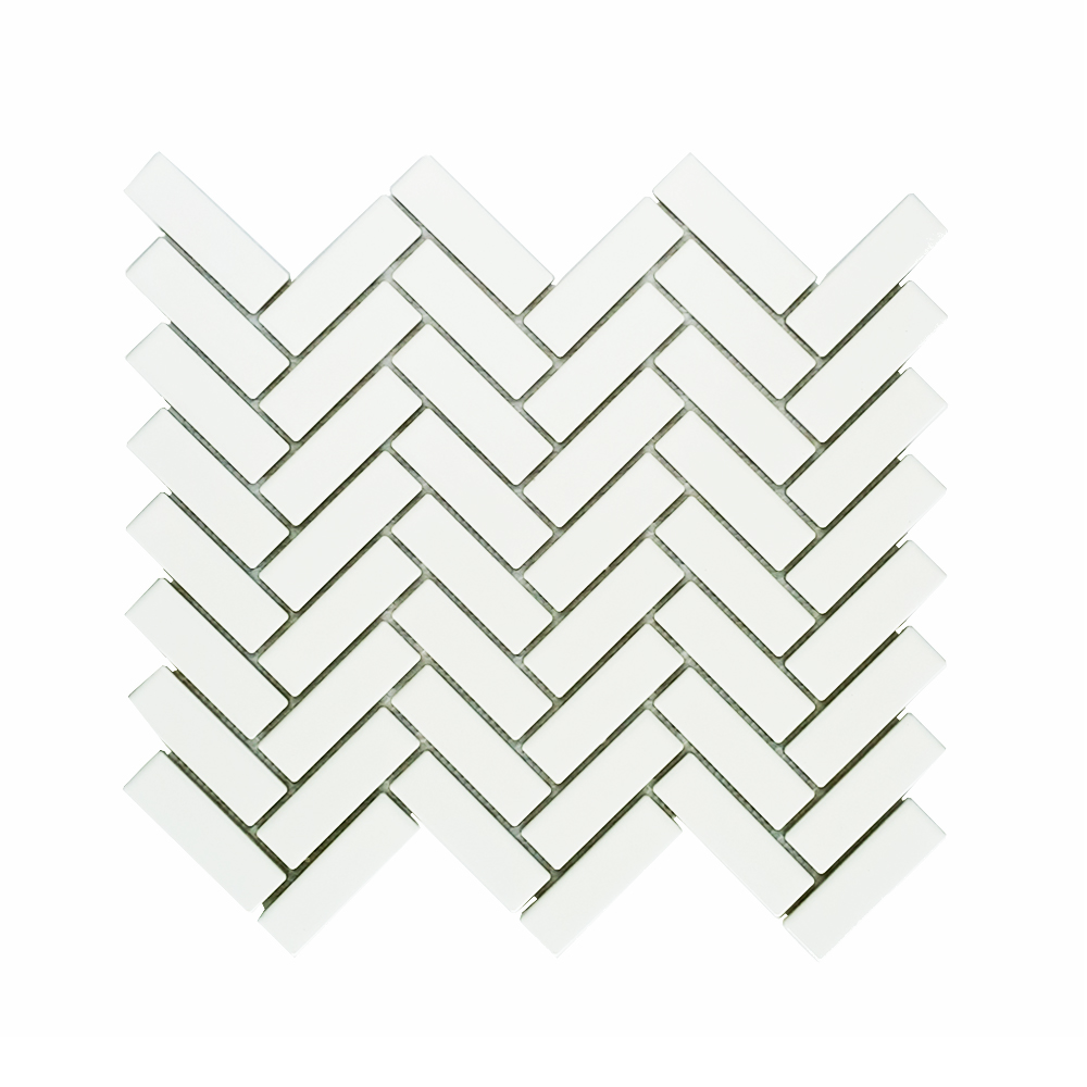 MOZZA TILE: MOZZA TILE Herringbone Glossy White 21,5x71,5 - small 1