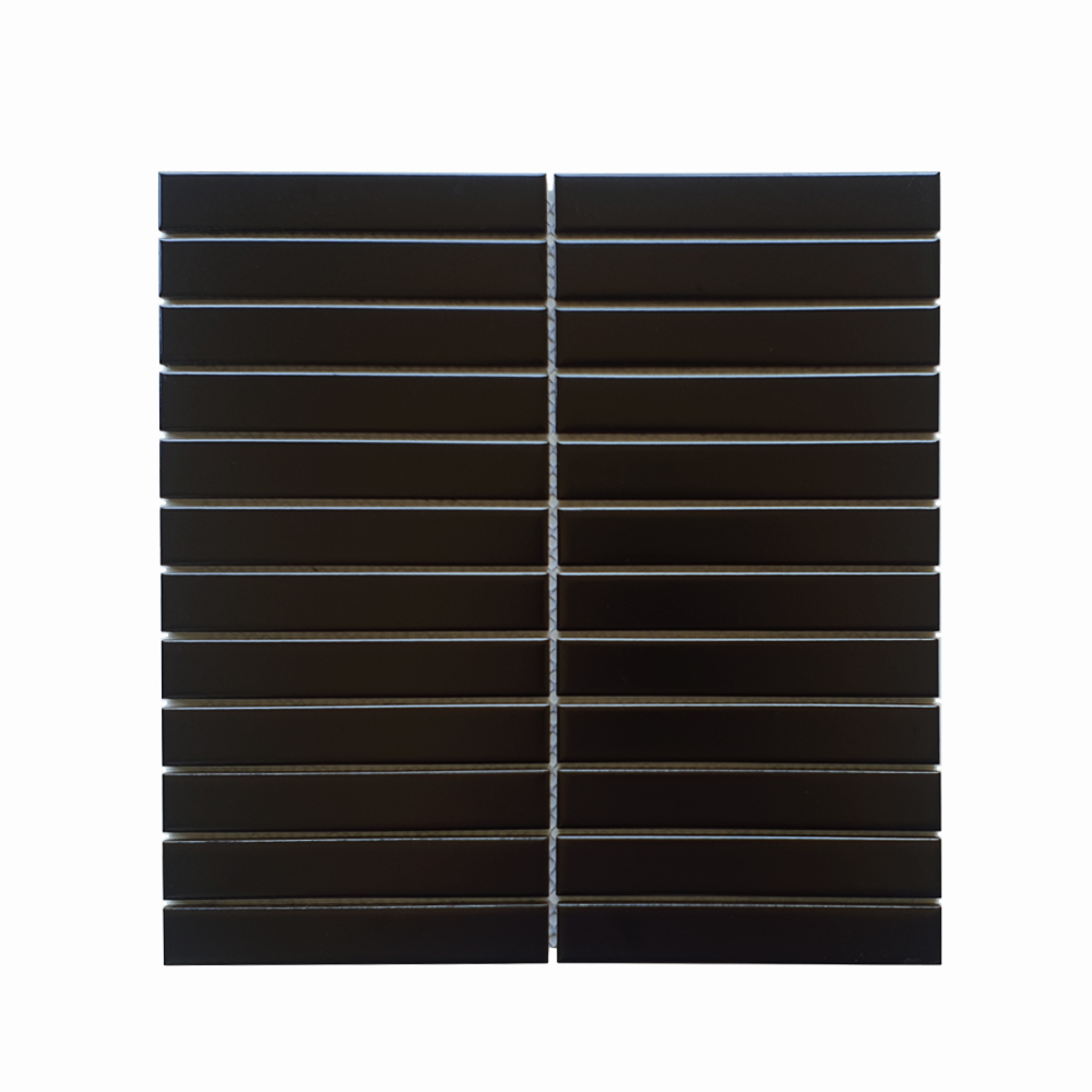 MOZZA TILE: MOZZA TILE Plaza Matte Black 22x145mm (300x296mm) - small 1